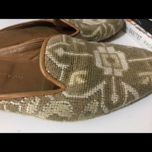 Stubbs and Wootton knit mules 9 GUC